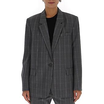 Isabel Marant ÉToile 19ave108119a017e02gy Women's Grey Wool Blazer