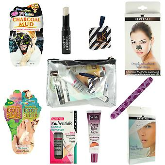 Ladies Pamper Bath & Body Gift Set Pre-Filled Make up Lucky Dip Hen Party Bag
