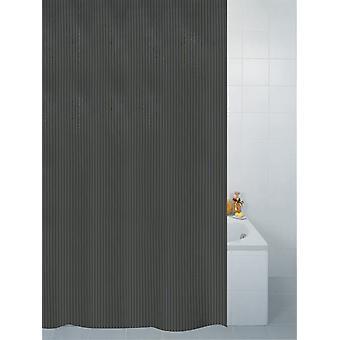 Noir Textile rayure Polyester douche Rideau 180 x 180cm