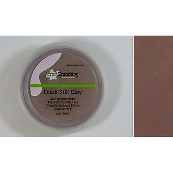 CraftEmotions Silk foam clay - brown 28gr Air dry