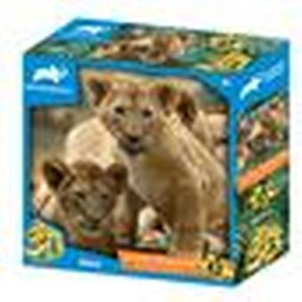 Afrikanske løver animal planet børn prime 3d puslespil 63 stykker