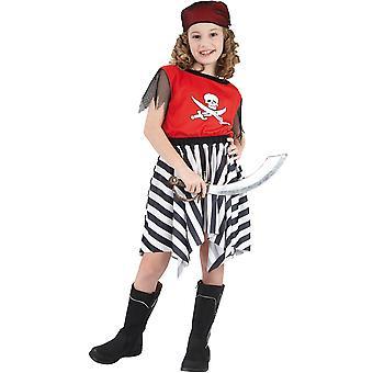 Déguisement pirate corsaire rouge fille