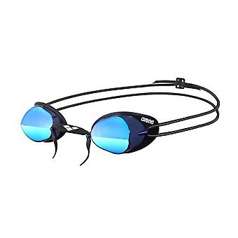 Arena Swedix Mirror Swim Goggle - Blue Lens - Smoke/Black Frame