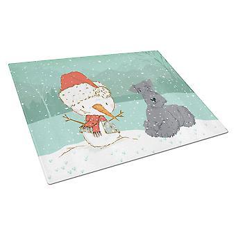Lakeland Terrieri Lumiukko joululasi leikkuulauta Suuri