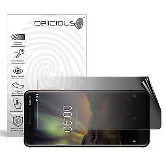 Celicious Privacy 2-Way Landscape Anti-Spy Filter Screen Protector Film Compatible with Nokia 6.1 (2018)