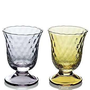 Ivv Fiordaliso Set 2 Goblet Optic Grey/honey 240ml