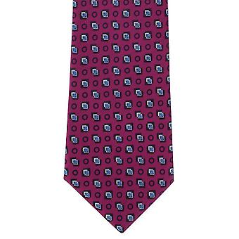 Michelsons di London Diamond Motif poliestere cravatta - rosa