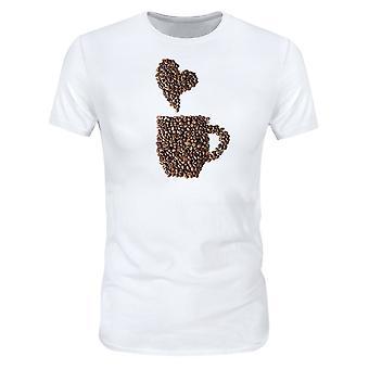 Allthemen 3D Coffee Bean Print camiseta de manga corta para hombre