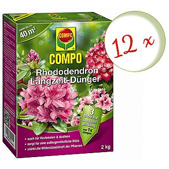 Sparset: 12 x COMPO Rhododendron Long-term fertilizer, 2 kg