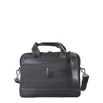 Longchamp 1486080001 Men's Black Polyester Briefcase