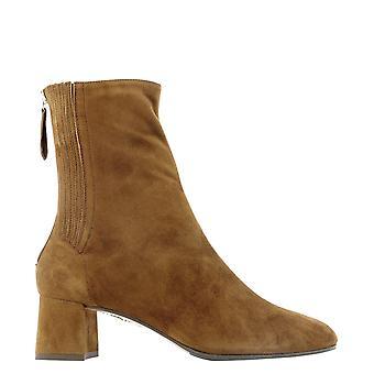 Aquazzura Shomidb0sue993 Women's Brown Suede Ankle Boots