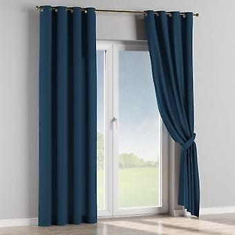 Ösenschal, marinenblau , 130 × 260 cm, Cotton Panama, 702-30