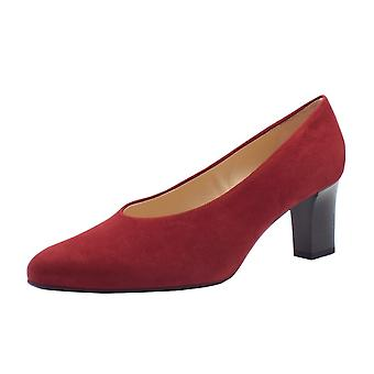 Peter Kaiser Mahirella Classic Mid Heel Court Shoes In Ruby