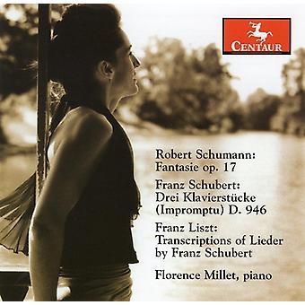 Schumann/Schubert/Liszt - Schumann: Fantasie; Schubert: Drei Klavierst Cke; Liszt: Transcriptions [CD] USA import