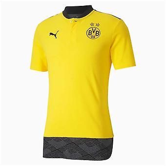 2020-2021 Borussia Dortmund Casuals Polo Shirt (Yellow)