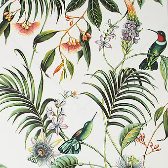 Superfresco Easy Adilah Floral Wallpaper White Graham and Brown 106975