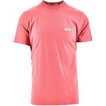 Nudie Jeans Daniel Dusty Red Melange Logo T-Shirt
