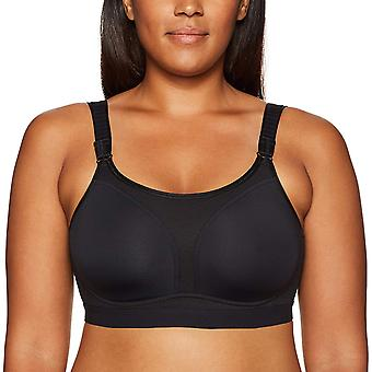 Arabella Women's No Wire Sport Bra, Noir, 42DD