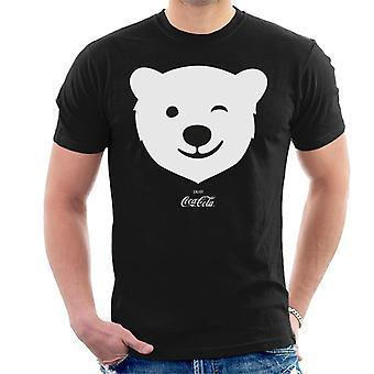 Coca Cola Polar Bear wink-T-shirt til mænd