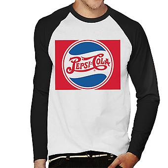 Pepsi Cola 1940 Wave Circle Logo Men's Baseball Long Sleeved T-Shirt
