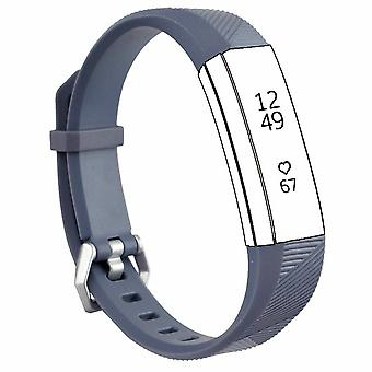 "Replacement Strap Silicone Band Bracelet for Fitbit Ace Kids / Alta / Alta HR[Small Fits Wrist 5.5"" - 6.9"",Grey]"