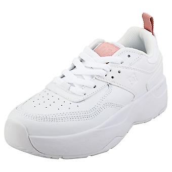 DC Shoes E.tribeka Womens Platform Trainers in White Pink