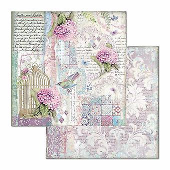 Stamperia Hortensia Cage & Birds 12x12 Paper Sheets (10pcs) (SBB695)