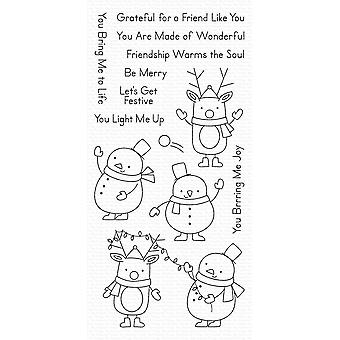 """My Favorite Things Clearly Sentimental Stamps 4""""X8"""" - Festive Friends"""