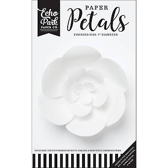 Echo Park Paper Petals Small White Peony