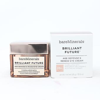 Bareminerals Brilliant Future Age Defense & Renew Eye Cream 0.5oz  New With Box