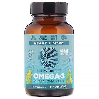 Sunwarrior, Omega-3, Vegan DHA + EPA, 60 Vegan Softgels