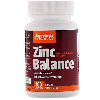 Formules Jarrow, Équilibre zinc, 100 capsules