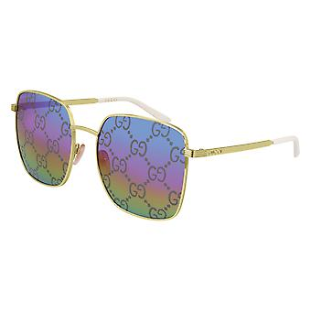 Gucci GG0802S 004 Gold/Multicolour Mirror Sunglasses