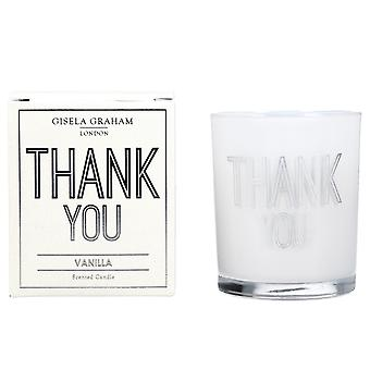 Gisela Graham Scented Candle - Thank You - Vanilla