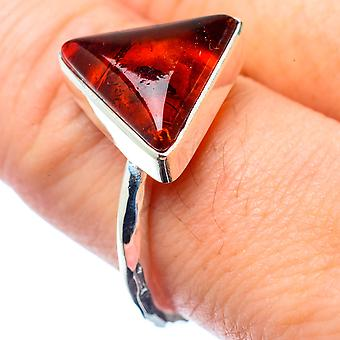 Baltic Amber Ring Size 9 (925 Sterling Silver)  - Handmade Boho Vintage Jewelry RING26748