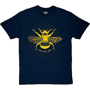 Save the Bees Navy Blue Men's T-Shirt