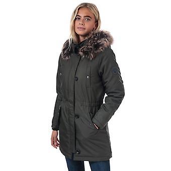 Women's Only Iris Winter Parka Jacket in Green