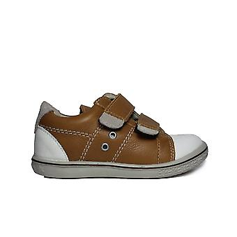 Ricosta Nippy 2523600-266 Tan Leather Boys Rip Tape Trainer Zapatos