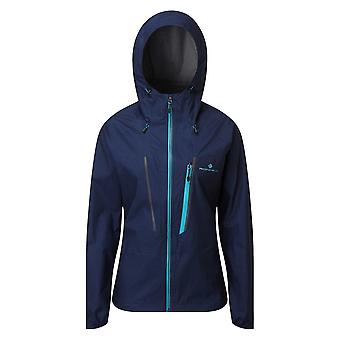 Ronhill Tech Fortify Mujeres Transpirable & Impermeable Chaqueta de Running Deep Navy/spa Green