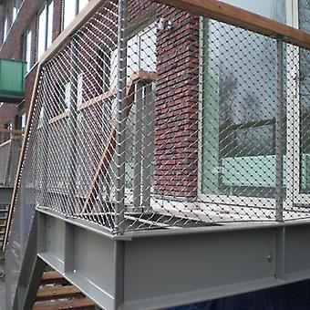 Ss316 Flexible Balustrade Stainless Steel Cable Netting For Balcony Stairway