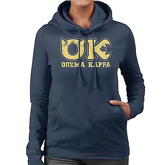 Pixar Monsters Inc University Oozma Kappa Logo Women's Hooded Sweatshirt