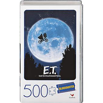 E.T. the Extra-Terrestrial Movie 500-Piece Puzzle in Plastic Retro Blockbuster VHS Video Case
