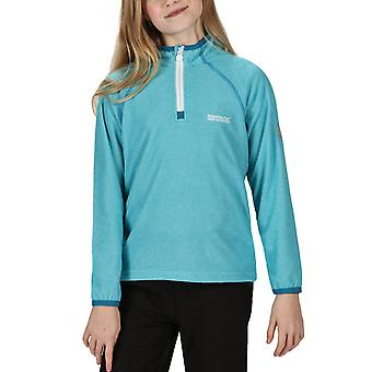 Regatta Kids Loco Half Zip Mini Stripe Outdoor Pullover Fleece - Water Blue