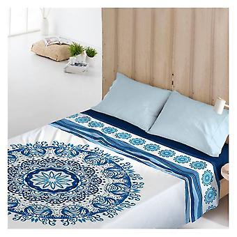 Top sheet Costura Greek Indigo/Single bed (160 x 270 cm)
