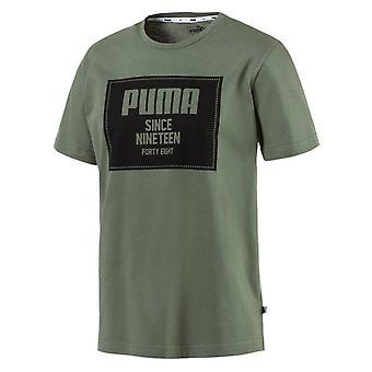 Puma Miesten Kapinalohko Basic Puuvilla T-paita Khaki Top Tee 852395 23 A15C