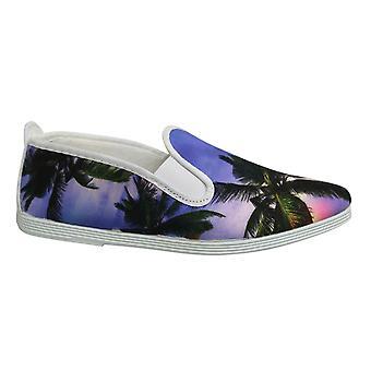 Flossy Style Barcelona Unisex Espadrille Slip Op Plimsolls Schoenen 55 238 Paars