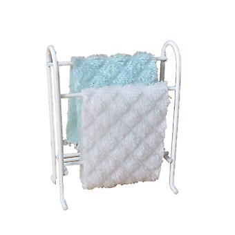 &מדף מעקה מגבת לבן בית בובות אקווה &; מגבות לבנות ריהוט לחדר אמבטיה
