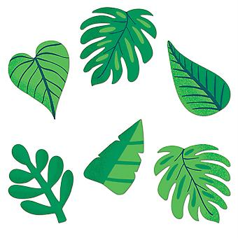 One World Tropical Leaves Cut-Outs, Pack of 36
