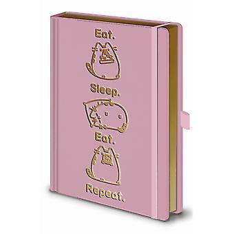 Pusheen Eat Sleep Eat Repeat A5 Notebook
