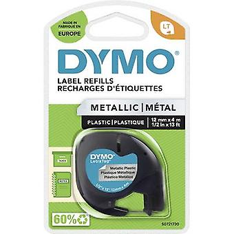 DYMO LT Labelling tape Tape colour: Silver (metallic) Font colour: Black 12 mm 4 m